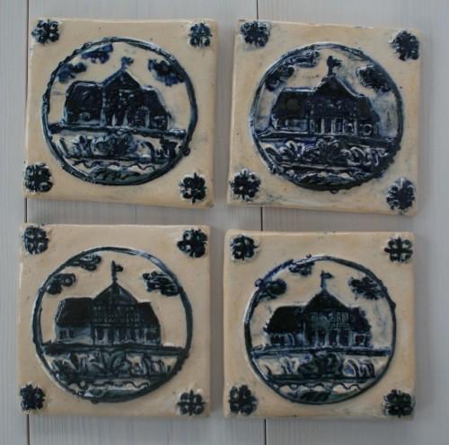 kafle z domem podcieniowym, inspirowane domem na Cyganku