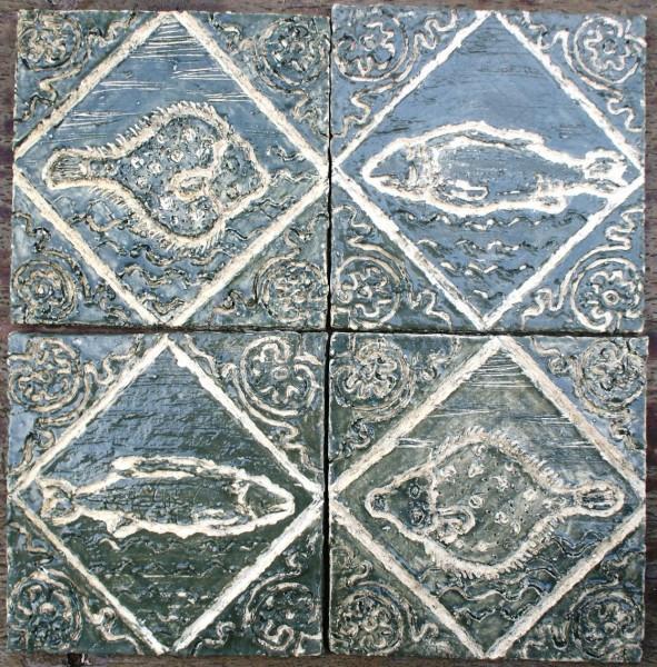 kafle holenderskie wzór Delft XVII w.