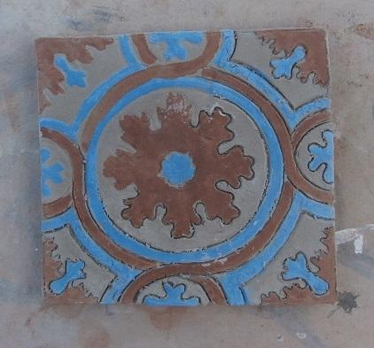 ceramika kadyńska, replika kafla